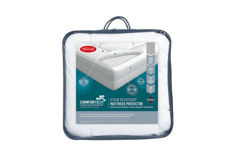 Tontine Comfortech Stain Resistant Mattress Protector (Single)