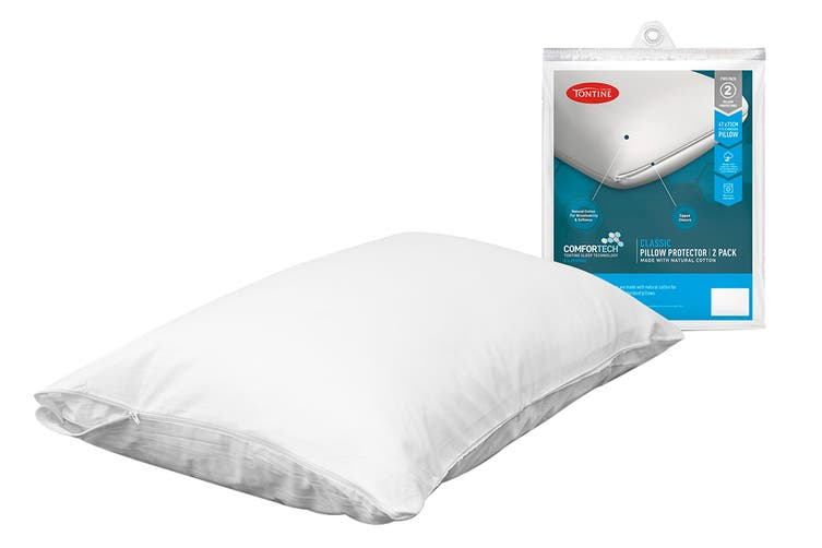 Tontine Comfortech Stain Resistant 2 Pack Pillow Protector