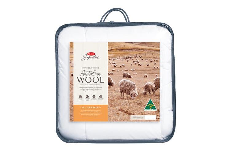 Tontine Signature All Seasons Australian Wool Quilt (Single)