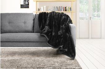 Trafalgar Luxury Mink Blanket (Black)