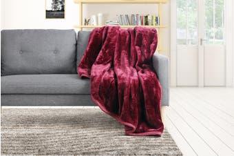 Trafalgar Luxury Mink Blanket (Burgundy)