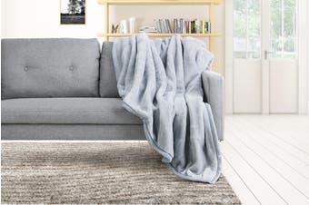 Trafalgar Luxury Mink Blanket (Light Grey)