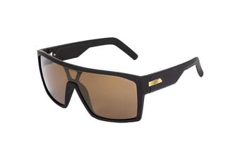 UNIT Men's Command Sunglasses (Black- Brown/Gold)