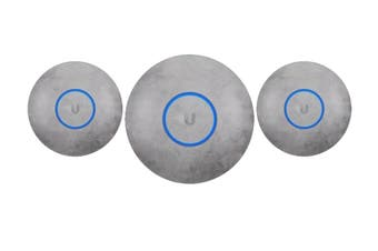 Ubiquiti UniFi NanoHD Hard Cover Skin Casing - Concrete Design, 3-Pack