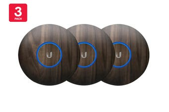 Ubiquiti UniFi NanoHD Hard Cover Skin Casing - Wood Design, 3-Pack (NHD-COVER-WOOD3)