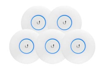 5- Pack Ubiquiti UniFi Wave 2 Dual Band 802.11ac AP with Security & BLE (UAP-AC-SHD-5)