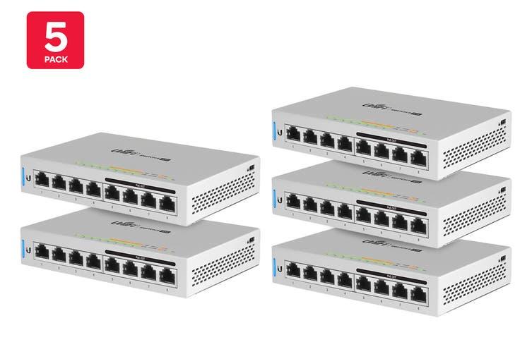 5-Pack Ubiquiti UniFi 60W 8 Port Switch with 4 Ports PoE  (US-8-60W-5)