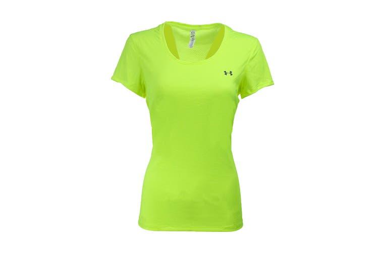 Under Armour Women's UA Flyweight T-Shirt (Hi Vis Yellow/Steel, Size M)