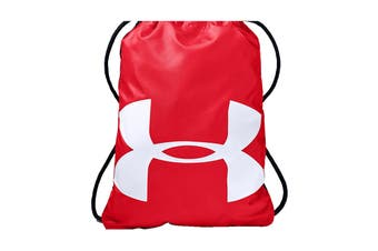 Under Armour Unisex Ozsee Sackpack (Red/Black/White)