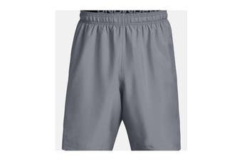 Under Armour Men's Woven Graphic Shorts (Steel/Black)