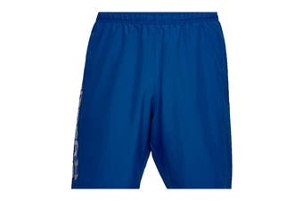 Under Armour Men's Woven Graphic Wordmark Shorts (Royal/Steel)