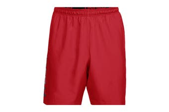 Under Armour Men's Woven Graphic Wordmark Shorts (Red/Black)