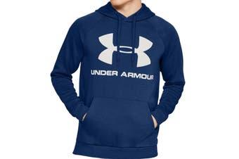 Under Armour Men's Rival Fleece Sportstyle Logo Hoodie (American Blue/Onyx White)