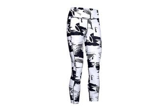Under Armour Women's Heatgear Armour Print 7/8 Legging (Black)