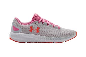 Under Armour Women's Charged Pursuit 2 Running Shoe (Halo Gray/White/Lipstick)