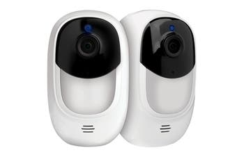 Uniden Wire-Free Full HD Weatherproof Smart Camera with Cloud Back-up (Twin Pack) (APPCAMSOLO2)