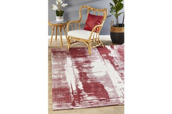 Rose Jacquard Woven Cotton & Chenille Rug - 400X300CM