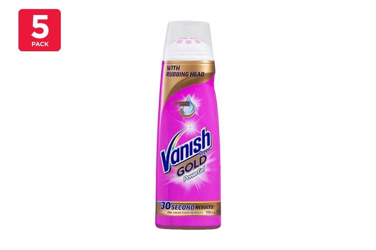 Vanish 200ml Preen Gold Power Gel With Rubbing Head (5 Pack)