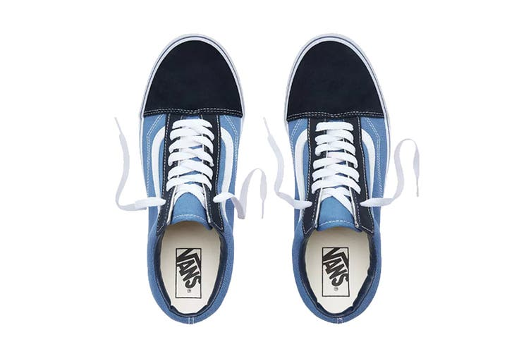 Vans Unisex Old Skool Shoe (Navy Blue, Size 4 US)