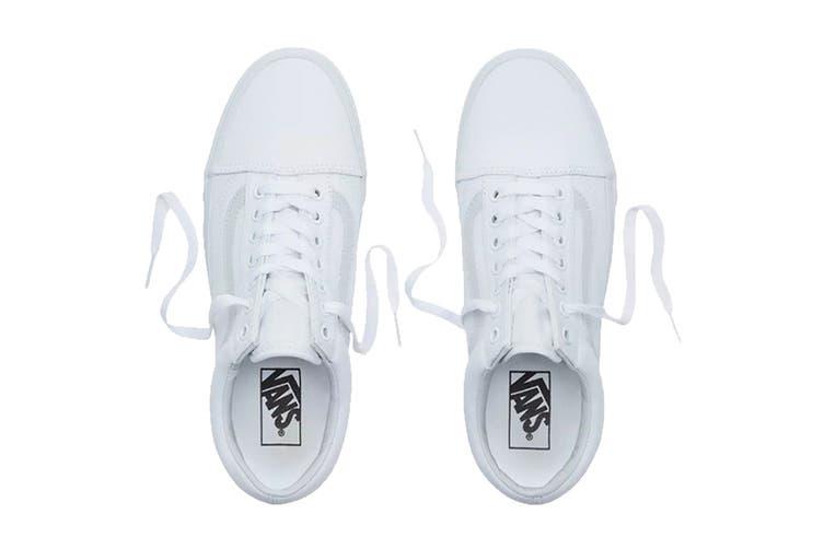 Vans Unisex Old Skool Shoe (True White, Size 5.5 US)