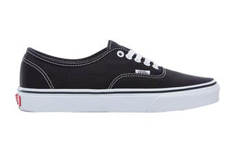 Vans Unisex Authentic Black Shoe (Black, Size 5.5 US)