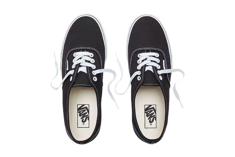 Vans Unisex Authentic Black Shoe (Black, Size 6 US)