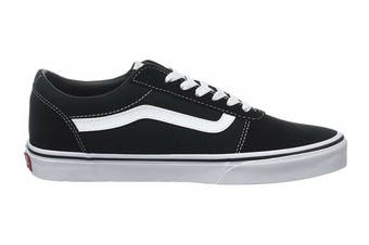 Vans Men's Ward Suede Canvas Shoe (Black/White, Size 9.5 US)