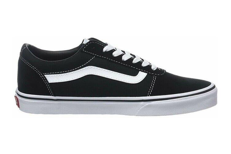 Vans Men's Ward Suede Canvas Shoe (Black/White, Size 9.5 US)