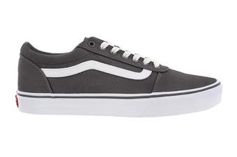 Vans Men's Ward Suede Canvas Shoe (Pewter/True White, Size 10.5 US)