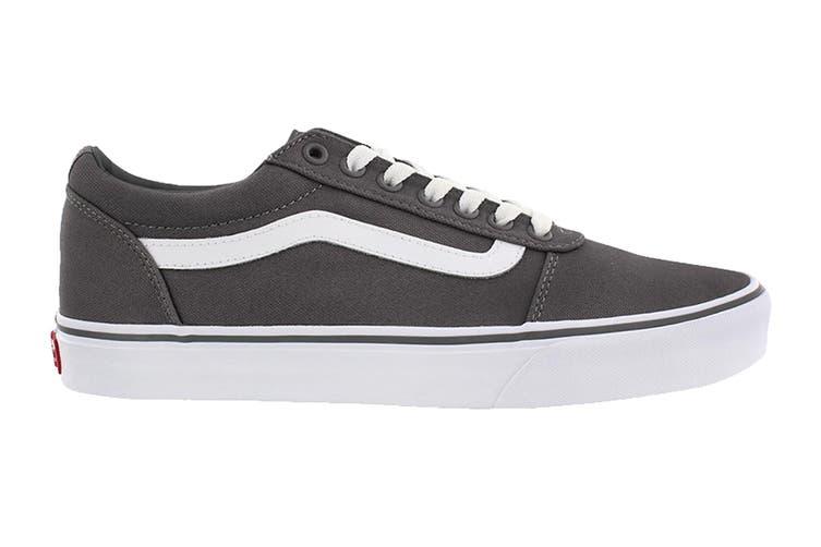 Vans Men's Ward Suede Canvas Shoe (Pewter/True White, Size 7.5 US)