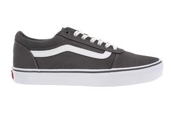 Vans Men's Ward Suede Canvas Shoe (Pewter/True White, Size 9 US)