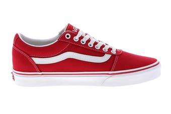 Vans Men's Ward Canvas Racing Shoe (Red/True White, Size 9 US)
