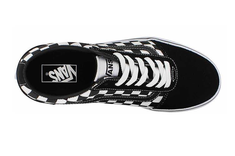 Vans Men's Ward Checkered Shoe (Black/True White, Size 8.5 US)