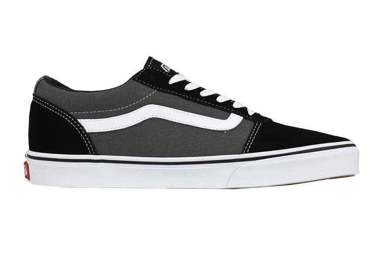 Vans Men's Ward Suede Canvas Shoe (Black/Pewter, Size 8.5 US)