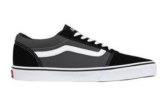 Vans Men's Ward Suede Canvas Shoe (Black/Pewter, Size 9 US)