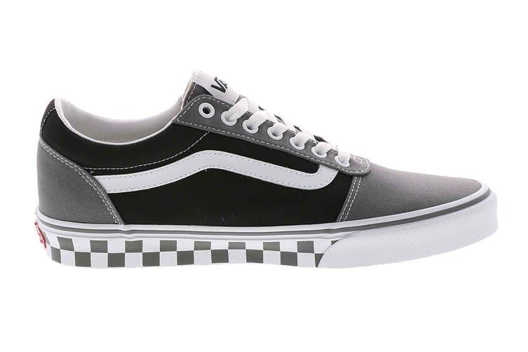 Vans Men's Ward Checkered Shoe (Pewter/Black, Size 10.5 US)