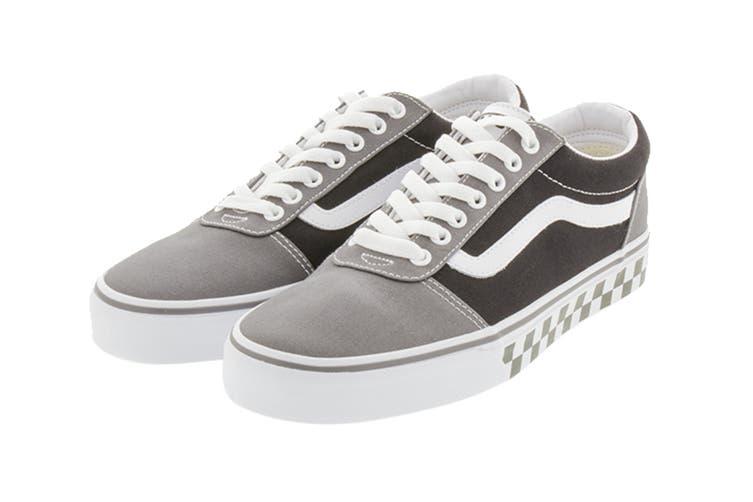 Vans Men's Ward Checkered Shoe (Pewter/Black, Size 10 US)