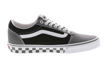 Vans Men's Ward Checkered Shoe (Pewter/Black, Size 8.5 US)