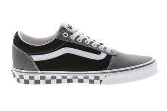 Vans Men's Ward Checkered Shoe (Pewter/Black, Size 9.5 US)