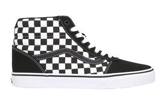Vans Men's Ward Hi Checkerboard Shoe (Black/True White)