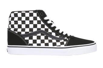 Vans Men's Ward Hi Checkerboard Shoe (Black/True White, Size 8.5 US)