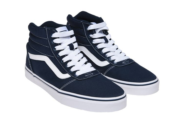 Vans Men's Ward Hi Shoe (Dress Blues/White, Size 10.5 US)