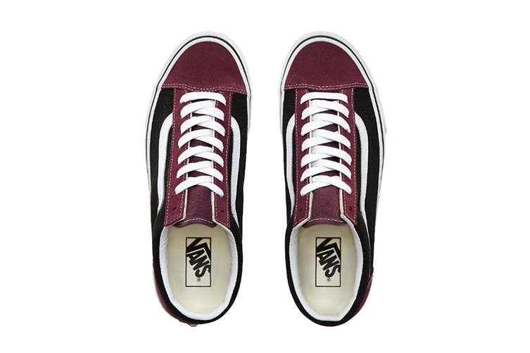 Vans Unisex Style 36 Vintage Suede Shoe (Prune/Black, Size 8 US)
