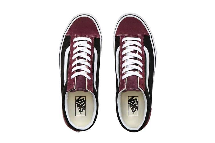 Vans Unisex Style 36 Vintage Suede Shoe (Prune/Black, Size 9.5 US)