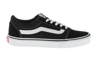 Vans Women's Ward Suede Canvas Shoe (Black/True White)