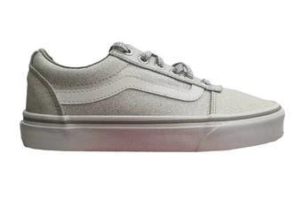 Vans Women's Ward Lurex Glitter Shoe (Silver, Size 6.5 US)