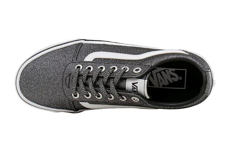 Vans Women's Ward Lurex Glitter Shoe (Black, Size 9 US)