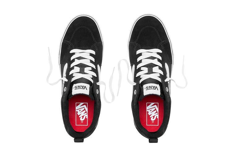 Vans Men's Filmore Suede Canvas Shoe (Black/True White, Size 9.5 US)