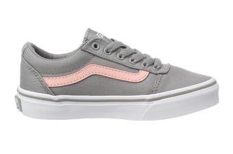 Vans Women's Ward Canvas Shoe (Grey/Pink, Size 3.5 US)