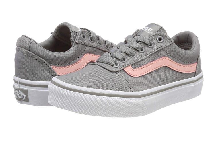 Vans Women's Ward Canvas Shoe (Grey/Pink, Size 5 US)